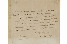 Government delays the sale of Pearse's last surrender letter