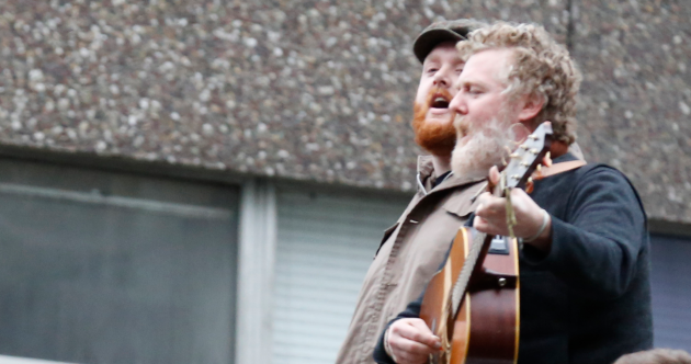 Apollo House Occupation: Hozier, Glen Hansard and friends perform live at Dublin homeless hostel