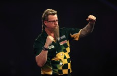 'The Wizard' produced a masterful 170 as he coasted through in the darts last night