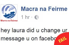 Someone has taken over the Macra na Feirme Facebook page tonight and it's gas