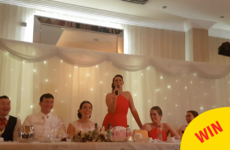 This Galway bridesmaid surprised the newlyweds with a gas Fairytale of New York-style speech