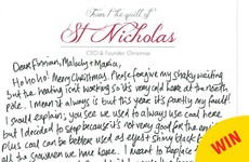 A Derry man has been writing the most adorable 'letters from santa' to his nieces and nephews