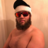 Andrew 'Beef' Johnston shows Tiger there's more than one Mac Daddy Santa in town