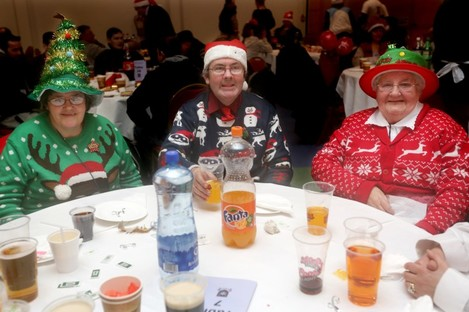 Guests at the Knights of Columbanus dinner, Maria, James and Kathleen Byrne from the Navan Road in 2013.