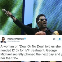 These lovely stories of George Michael's generosity are being shared today