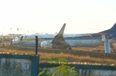 Fifteen injured as plane skids off runway and spins 360 degrees