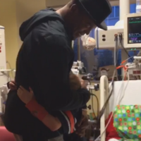 Young Cam Newton fan with serious heart condition gets a surprise visit from his hero