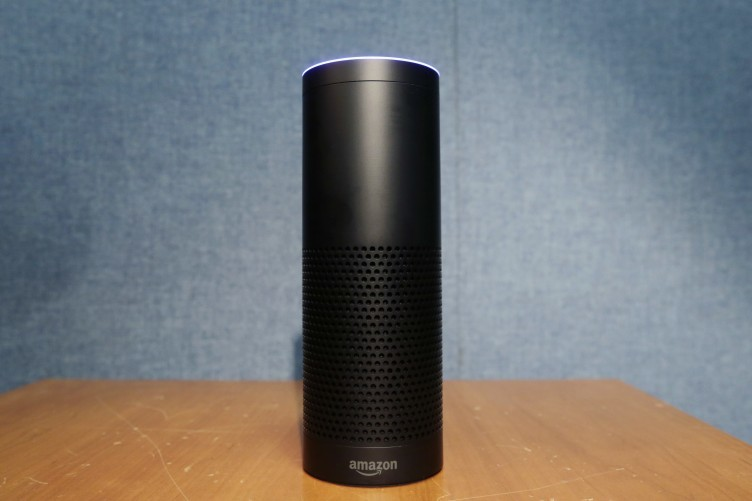 Amazon's echo device speaks back to users with a female voice known as 'Alexa'.