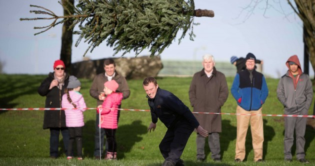 Want to break a world record for throwing a Christmas tree?