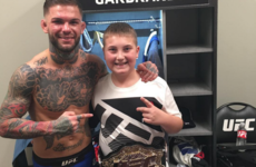 Cody Garbrandt lights up fan's night as he gives his belt to cancer survivor