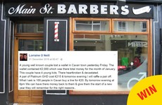 A Cavan hairdresser raised €2000 after a family lost their wallet on New Year's Eve
