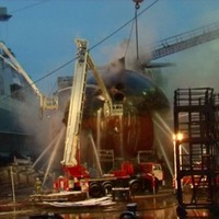 Video: Huge fire on Russian nuclear submarine finally put out