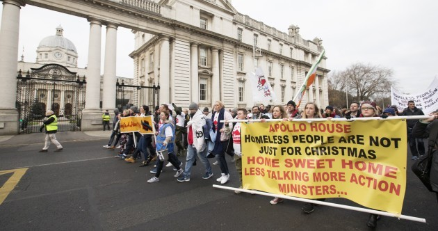 """I think people are very angry"": Protesters call for action on homelessness in Dublin march"