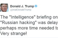 Donald Trump tweets backing of Julian Assange and mocks US intelligence agencies