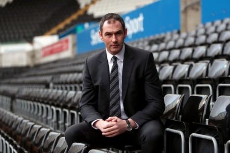 Swansea City manager Paul Clement is officially unveiled at Liberty Stadium.