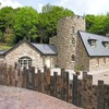 This castle comes with a very modern roof terrace (and hot tub option)