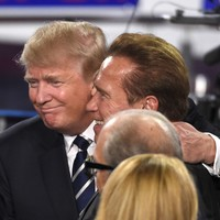 On same day he's due to face spy chiefs over Russian hacking, Trump has pop at Arnold Schwarzenegger