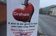 A woman got revenge on her cheating boyfriend by plastering these posters all over town