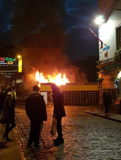 'It was targeted': 'Somebody's Child' exhibition in Temple Bar in flames