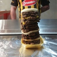 This Tipperary chipper is challenging people to eat their preposterously large 14-layer burger