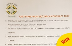 Laois GAA club take the piss out of those strict player-coach contracts