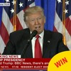 BBC News had a whale of a time with the captions during Trump's press conference today