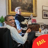 Bono whipped out a guitar for Obama in the White House and it's peak Bono