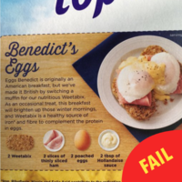 Weetabix now has eggs and ham as a serving suggestion and people are like 'ah here'