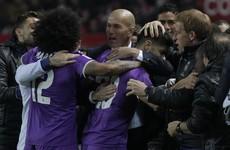 Real Madrid set Spanish record 40-game unbeaten run after late drama