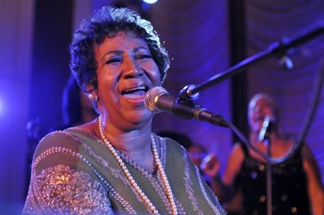 Franklin performing last October.