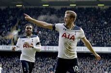Harry Kane hits hat-trick as four-star Tottenham go second