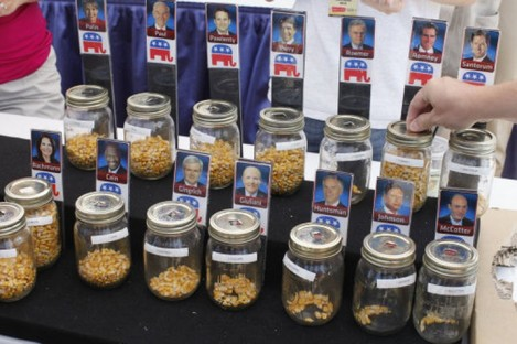 An informal 'corn poll' on Republican presidential hopefuls back in August 2011.
