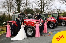 This bride from Monaghan drove herself to her wedding in a Massey Ferguson
