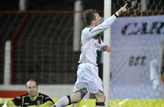 Mattie Burrows scores 16-yard backheel for Glentoran
