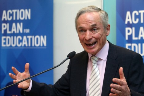 Minister Richard Bruton at the launch of the new model at Marino College in Dublin today.