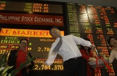 Stock markets close up on first day of 2012