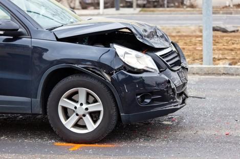File photo of a crashed car.