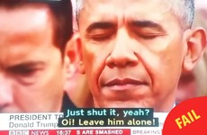 BBC made an absolute hames of the inauguration subtitles and it was gas