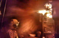 Dublin Fire Brigade tackled a fire in two caravans last night