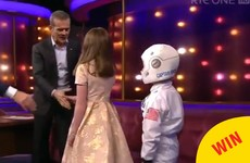 Two budding Irish astronauts got to meet Chris Hadfield on Ray D'Arcy last night