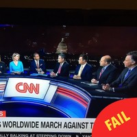 People are taking the piss out of the CNN panel on to discuss the Women's March