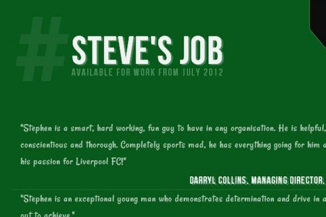 A screengrab of Stephen Cleary's internship campaign appeal