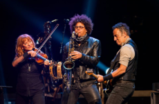 Bruce Springsteen showed his support for the Women's March during a gig yesterday