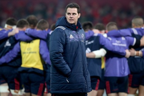 Rassie Erasmus pictured during Munster's Champions Cup win over Racing 92 at the weekend.