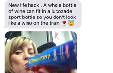 People are loving this Mam's hack for drinking wine on the train