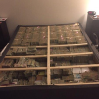 Here's what $20 million hidden under a bed looks like