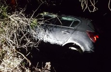 Driver arrested after failing to stop for speeding and crashing into ditch