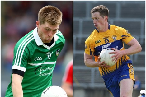 Key points scored today by Limerick's Seamus O'Carroll and Clare's Eoin Cleary.