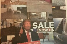 This Galway flooring company has gone all out with a Trump ad in the local paper today