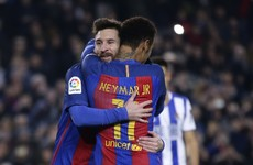 Messi, Luis Suarez and Denis Suarez on target as Barca advance with rout